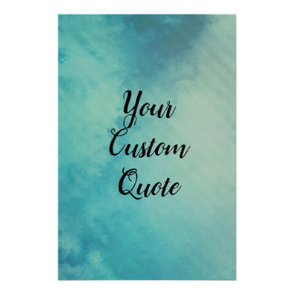 Ice Chilled Striped Personalised Quote Print