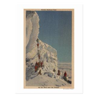 Ice Climbers in Rainier National Park, Washingto Postcard