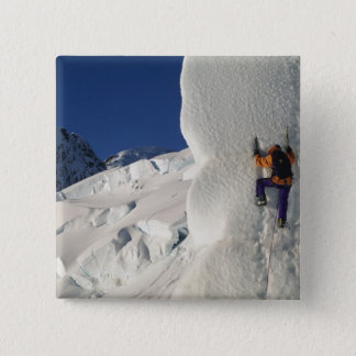 Ice climbing on the Tasman Glacier below Mount 15 Cm Square Badge