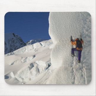 Ice climbing on the Tasman Glacier below Mount Mouse Pad