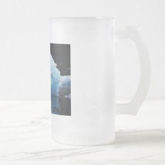 ICE COLD BEER ONLY FROSTED GLASS MUG