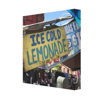 Ice Cold Lemonade, Street Fair Upper West Side NYC Canvas Print