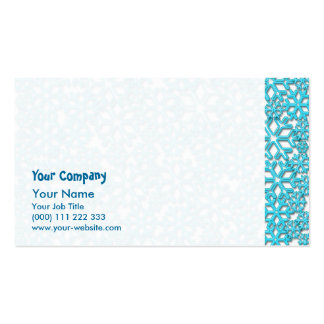 Ice Cold Snowflakes pattern Business Cards