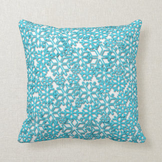 Ice Cold Snowflakes pattern Cushion