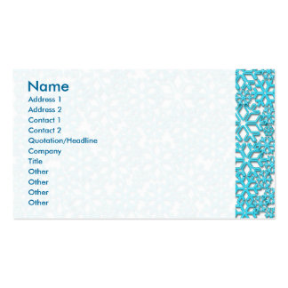 Ice Cold Snowflakes pattern Pack Of Standard Business Cards