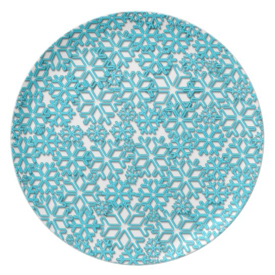 Ice Cold Snowflakes pattern Plate