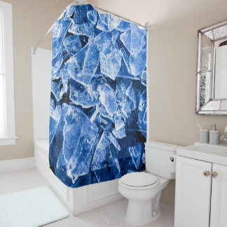 Ice cool shower curtain