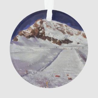 Ice corridor in the Swiss Alps