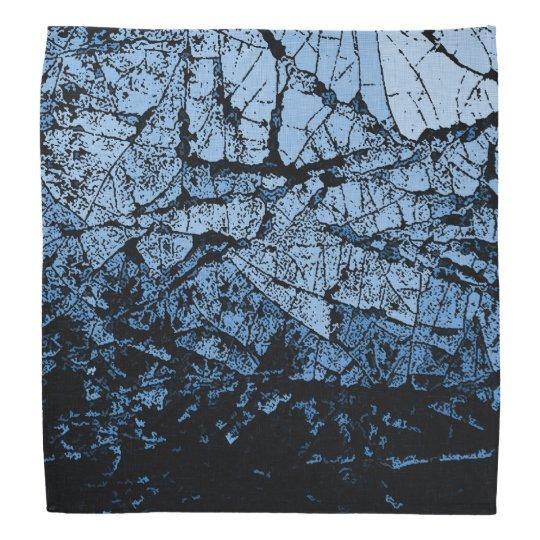 Ice cracks, light blue and black grunge pattern