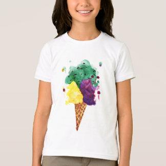Ice Cream 3 Scoops! Girl's Shirt