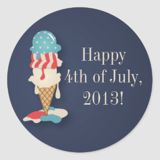 Ice Cream 4th of July Party Stickers