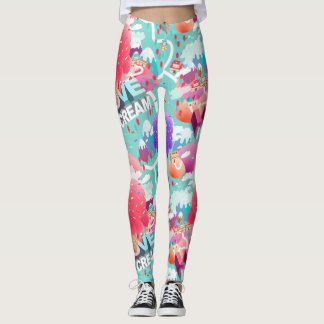 Ice cream addict leggings