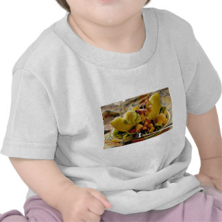 Ice cream and berries on sliced melon tshirts