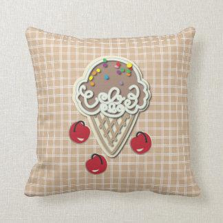 Ice Cream and Cherries Cushion