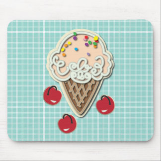 Ice Cream and Cherries Mouse Pad
