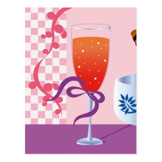 Ice Cream and Cocktail Postcard