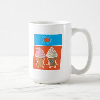 ice cream and sun bath basic white mug