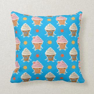 ice cream and sun bath pattern cushion