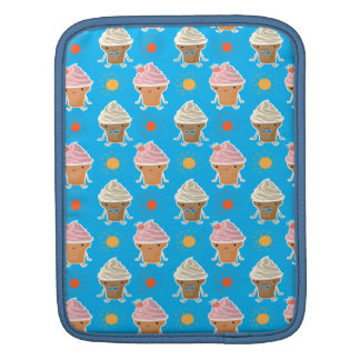 ice cream and sun bath pattern sleeves for iPads
