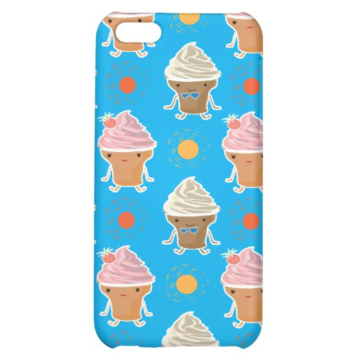 ice cream and sun bath pern cover for iPhone 5C