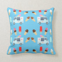 Ice Cream and Truck Pattern Cushion