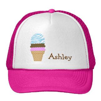 Ice Cream Baby Blue Zebra Animal Print Mesh Hat