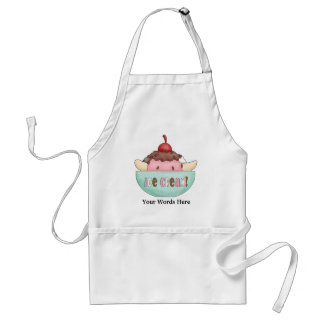 Ice cream banana split vendors apron add words