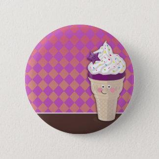 ice cream blueberry buttom 6 cm round badge