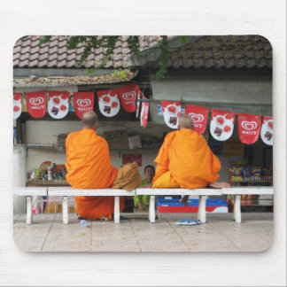 Ice Cream Break ... Buddhist Monks Thailand Mouse Mat