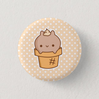 Ice Cream Bunny Button *CHOOSE YOUR OWN SIZE