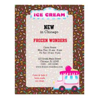Ice cream business 21.5 cm x 28 cm flyer