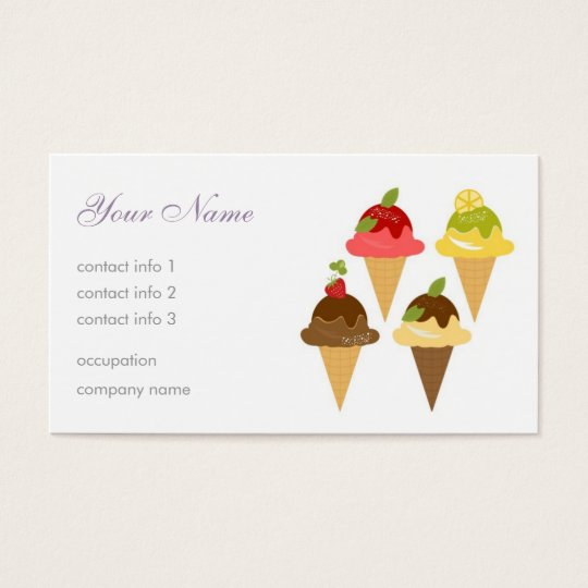 Ice-Cream Cafe Business Card