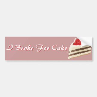 Ice Cream Cake Bumper Sticker