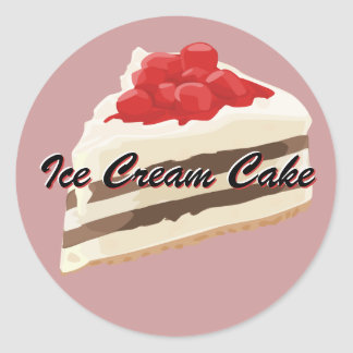 Ice Cream Cake Stickers