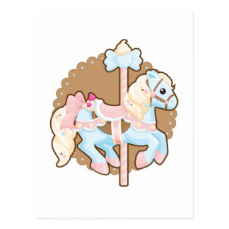 Ice Cream Carousel Postcard