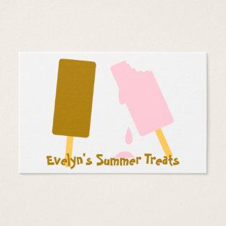Ice Cream Caterer Baker Sweets Maker Business Card