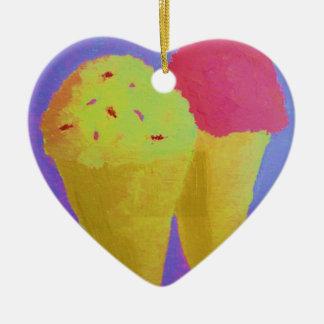 Ice Cream Ceramic Heart Decoration