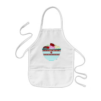 Ice cream & cherries kids apron