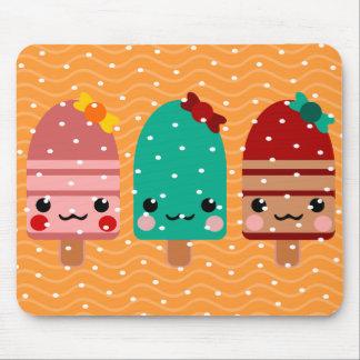 ice cream chocolate polka dots as snow xmas mouse pad