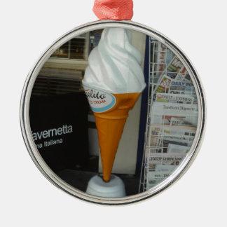 Ice cream christmas ornament