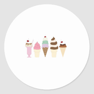 Ice Cream Classic Round Sticker