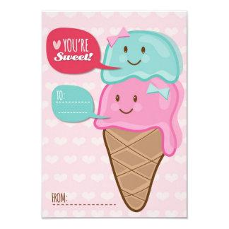 Ice Cream Classroom School Kids Valentine's Day 9 Cm X 13 Cm Invitation Card