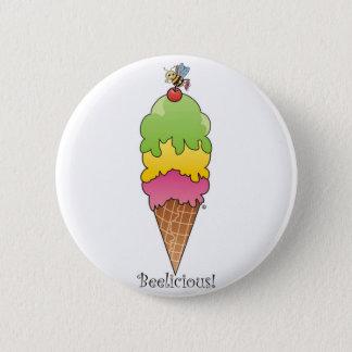 Ice Cream Cone 6 Cm Round Badge