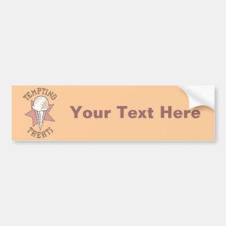 Ice Cream Cone - A Tempting Treat Bumper Sticker