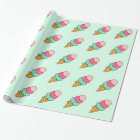Ice Cream Cone Birthday Party Wrapping Paper