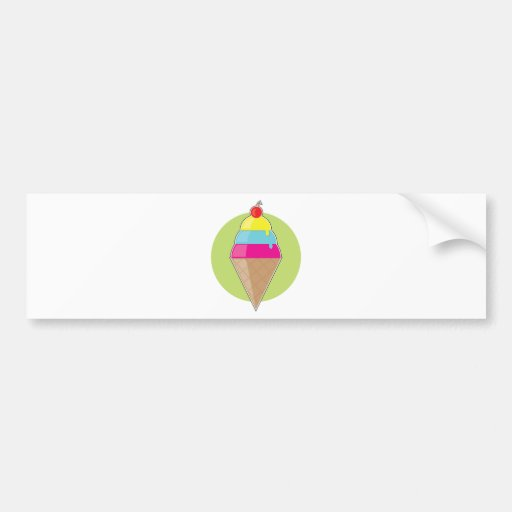 Ice Cream Cone Bumper Sticker
