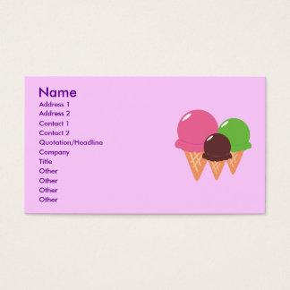 Ice Cream Cone Business Cards