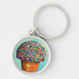 Ice Cream Cone Cafe Restaurant Kitchen Food Yummy Keychains