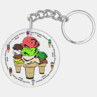 Ice Cream Cone Day Acrylic Key Chains