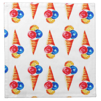 Ice-cream cone design napkin